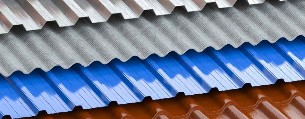 Metal Roofing in Murfreesboro Tn - Different types of roof coating. Background from layers of sheet